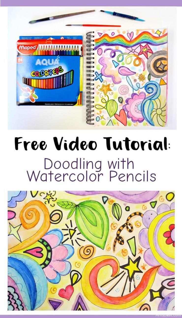 Art Video Doodling With Watercolor Pencils Watercolor Pencils