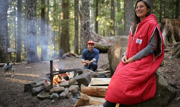 Based in Portland, Oregon and designed by adventurers, Poler presents the Napsack, a sleeping bag you can wear. The zippered shoulders allow full use of your arms, and the drawcord bottom adjusts the length for standing or walking. The zippered front makes it easy to slip on or off.