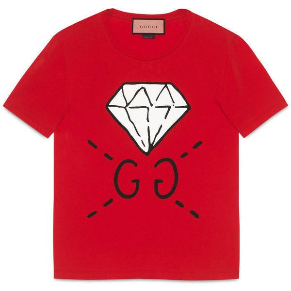 3a58bbb4f Gucci Guccighost Gg Diamond T-Shirt ($310) ❤ liked on Polyvore featuring  men's fashion, men's clothing, men's shirts, men's t-shirts, men, ready to  wear, ...