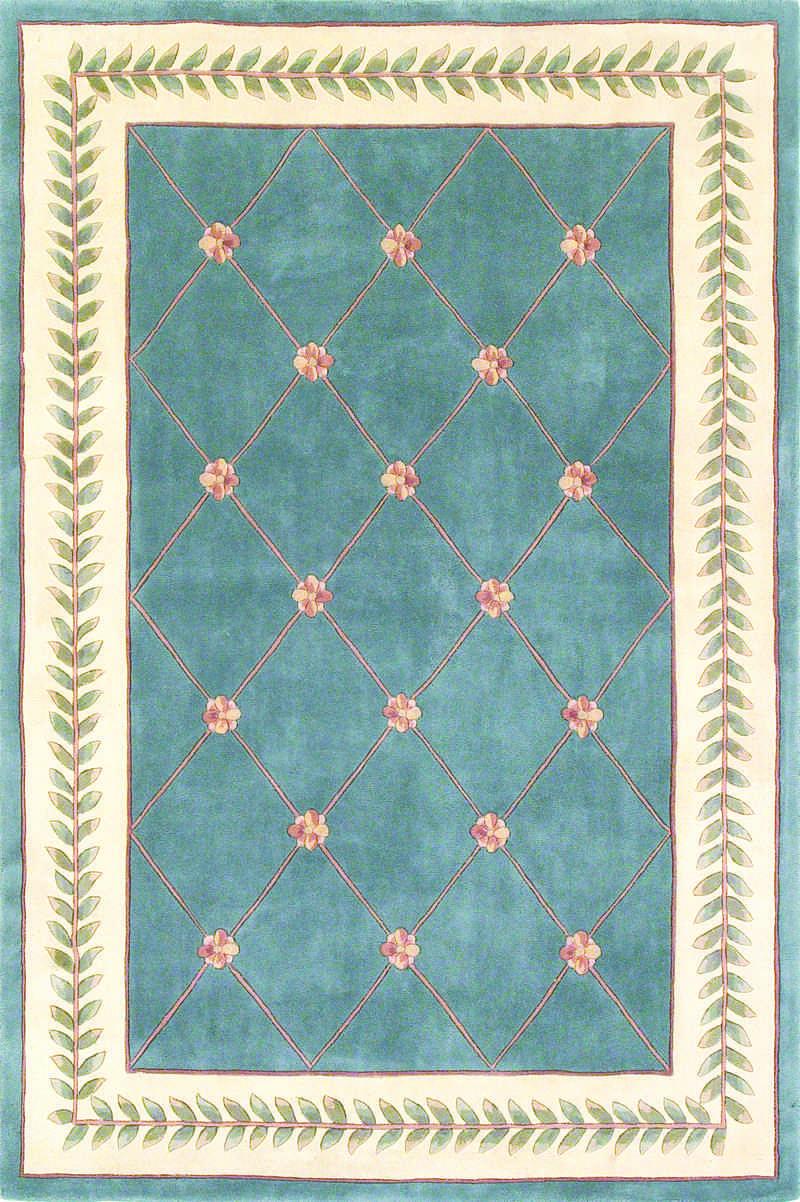 Kas Oriental Rugs Ruby 8929 Wedgewood Blue Wedgewood Blue 2 6 4 2 Area Rug Wool Area Rugs Trellis Rug Traditional Rugs
