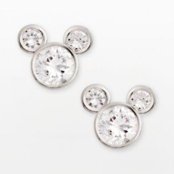 c0e7751d6 Disney Mickey Mouse Sterling Silver Cubic Zirconia Stud Earrings - Kids