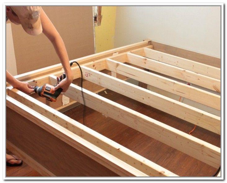Diy King Bed Frame With Storage