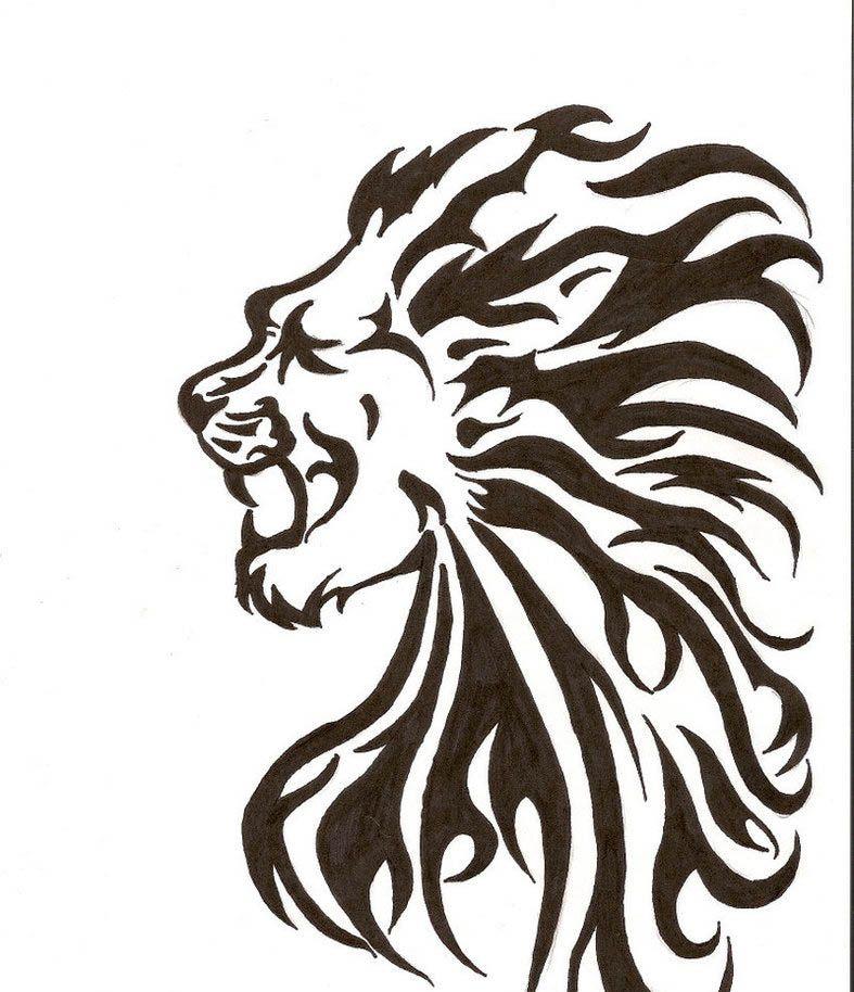 Tribal Lion Tattoos Designs Tattoo Gallery Tribal Lion Tattoo Tribal Lion Lion Tattoo