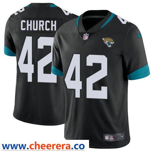 ce28ba83f Nike Jacksonville Jaguars  42 Barry Church Black Alternate Men s Stitched  NFL Vapor Untouchable Limited Jersey