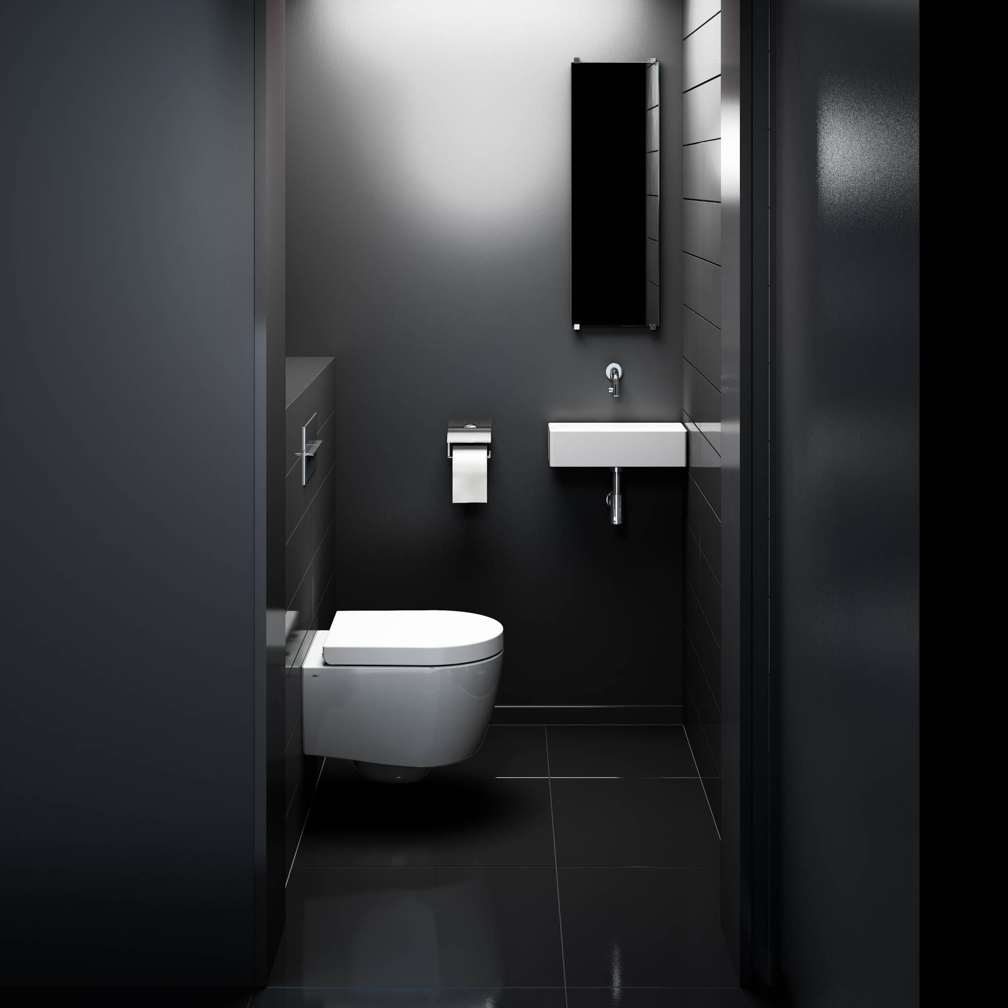Zwarte badkamers zijn helemaal de trend. Lees hier meer over zwarte ...