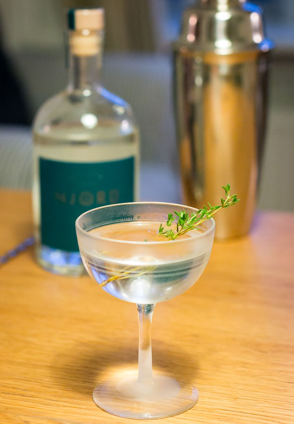Njord Gin Martini. Photo by Michael Sperling.