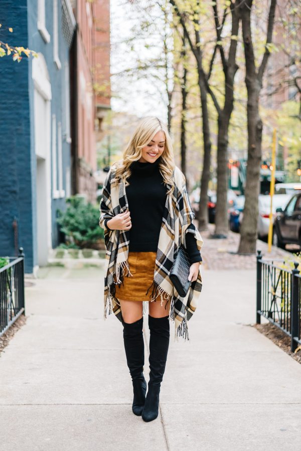 Over-The-Knee Boots (Bows & Sequins) | Knee boot and Suede skirt