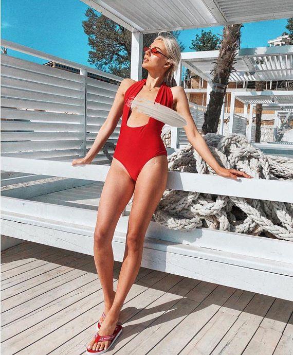 273854fe0eae6 Transformer swimsuit, red swimsuit, one piece bathingsiut, Sexy beachwear,  Erotic Swimming Suit, Wom