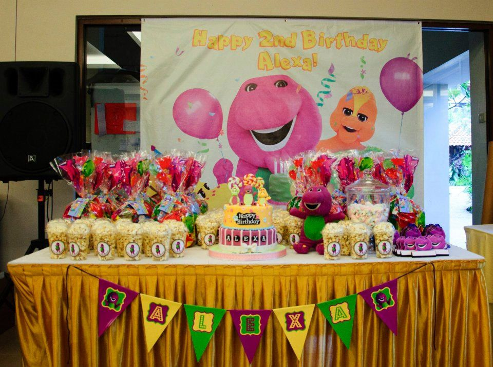Barney Birthday Theme DIY Personalised Party by