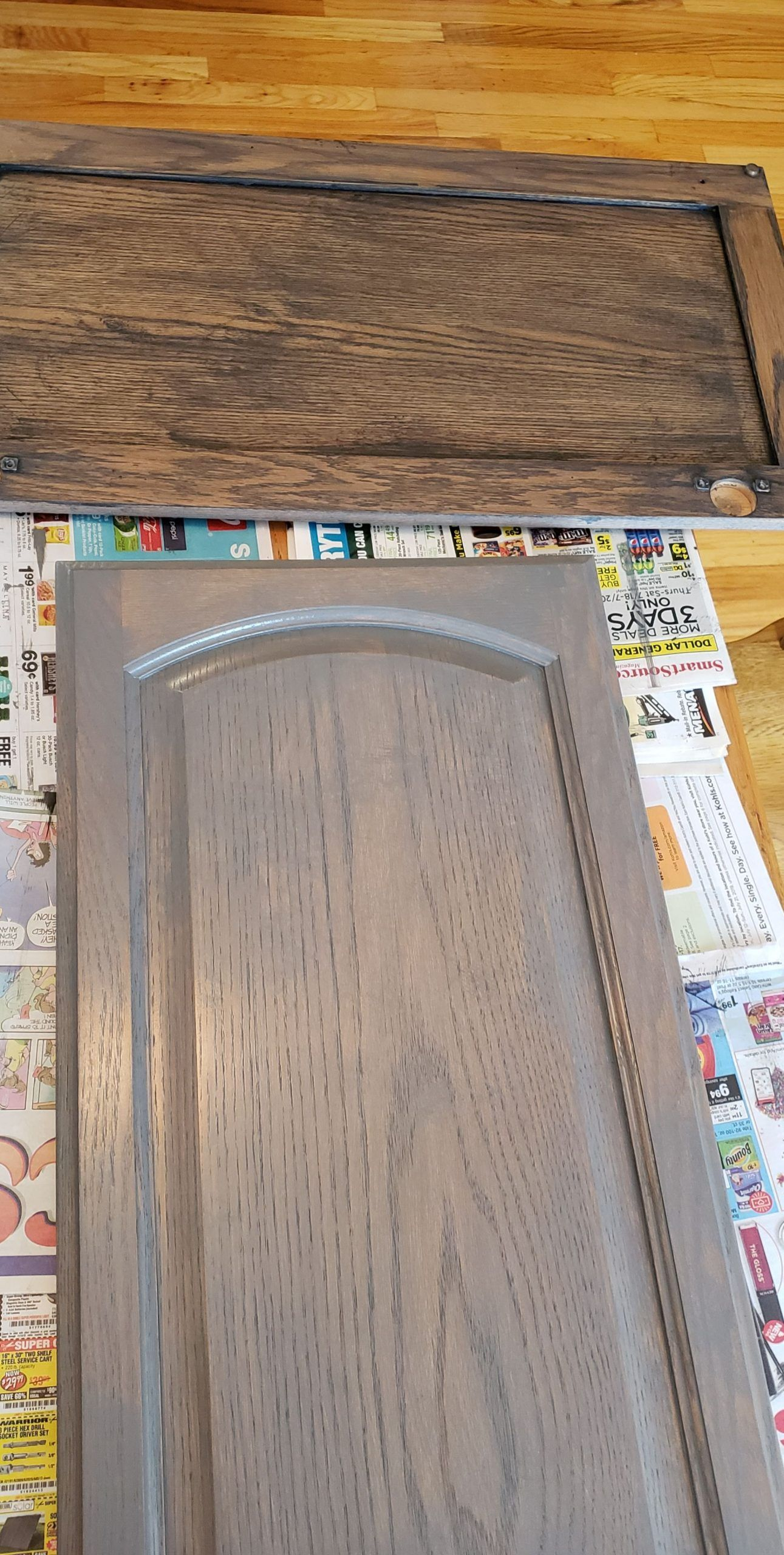 General Finishes Gel Stain On Golden Oak Finishes Gel General Golden Oak Stain In 2020 Staining Oak Cabinets Staining Cabinets Stained Kitchen Cabinets
