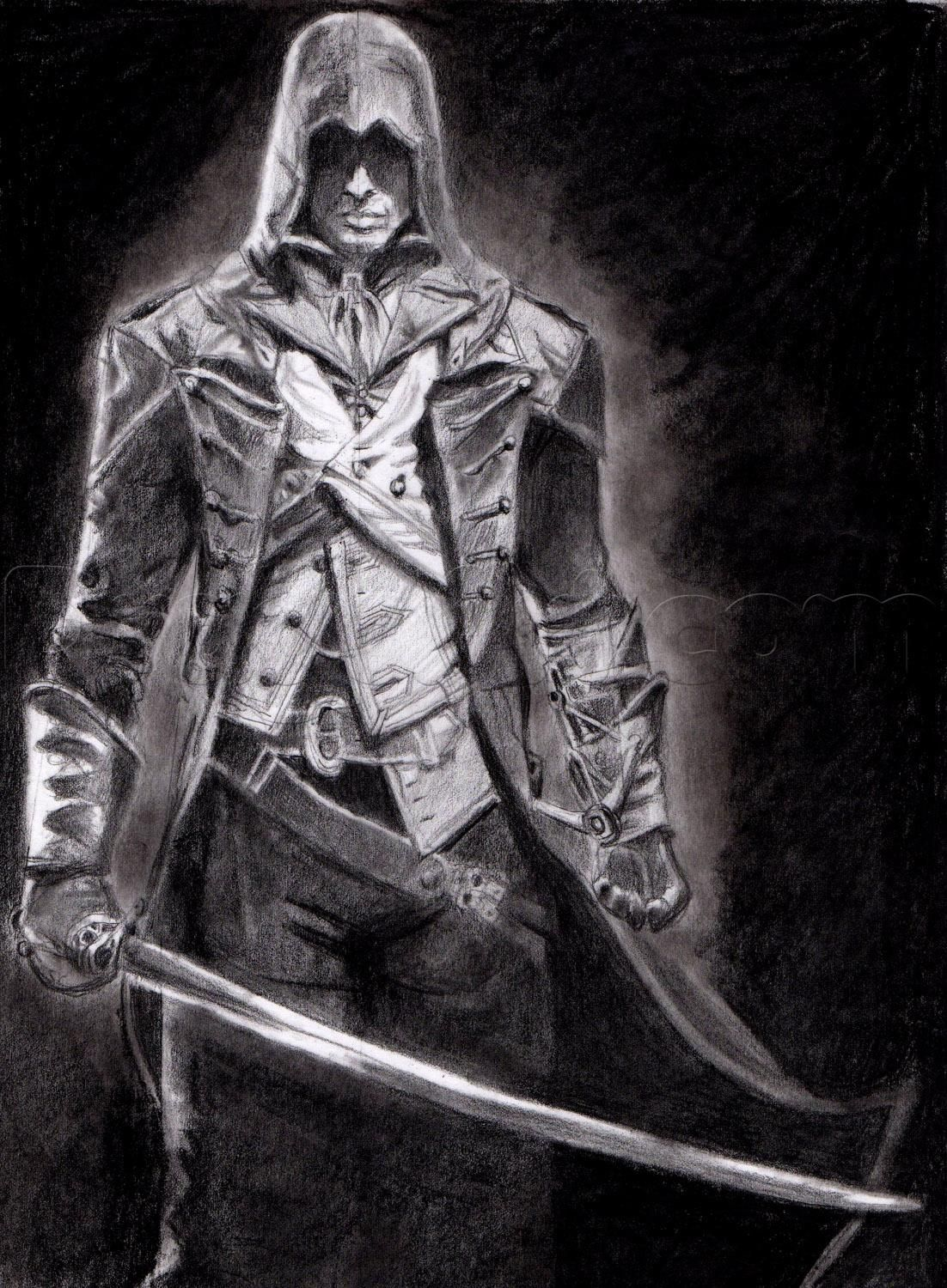 Assassins creed games free online - How To Draw Arno Victor Dorian From Assassins Creed Unity Step 23