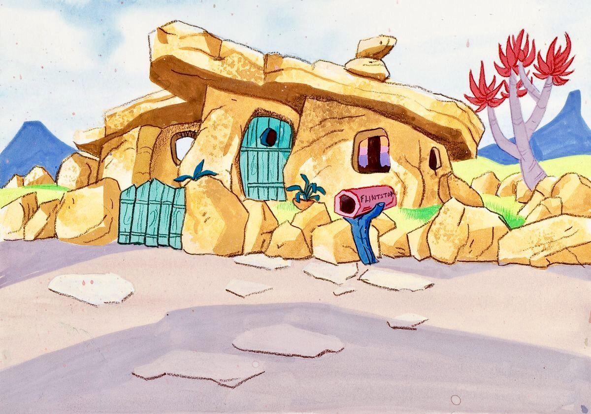 The Flintstones House Stock Key Background Animation Artwork
