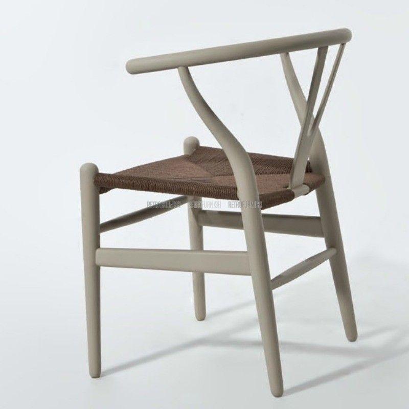 Namaak Design Stoelen.Wishbone Stoel Ch24 Rattan Kleur Replica Design Meubelen