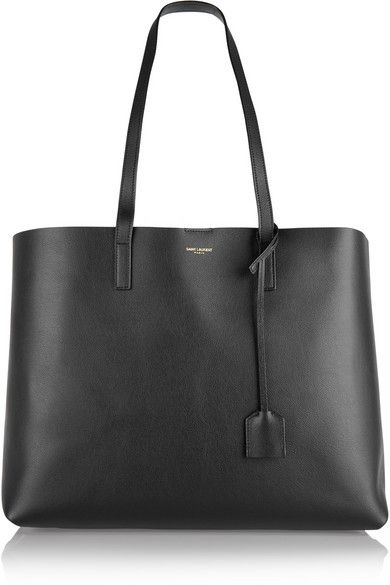 Saint Laurent - Shopping large textured-leather tote