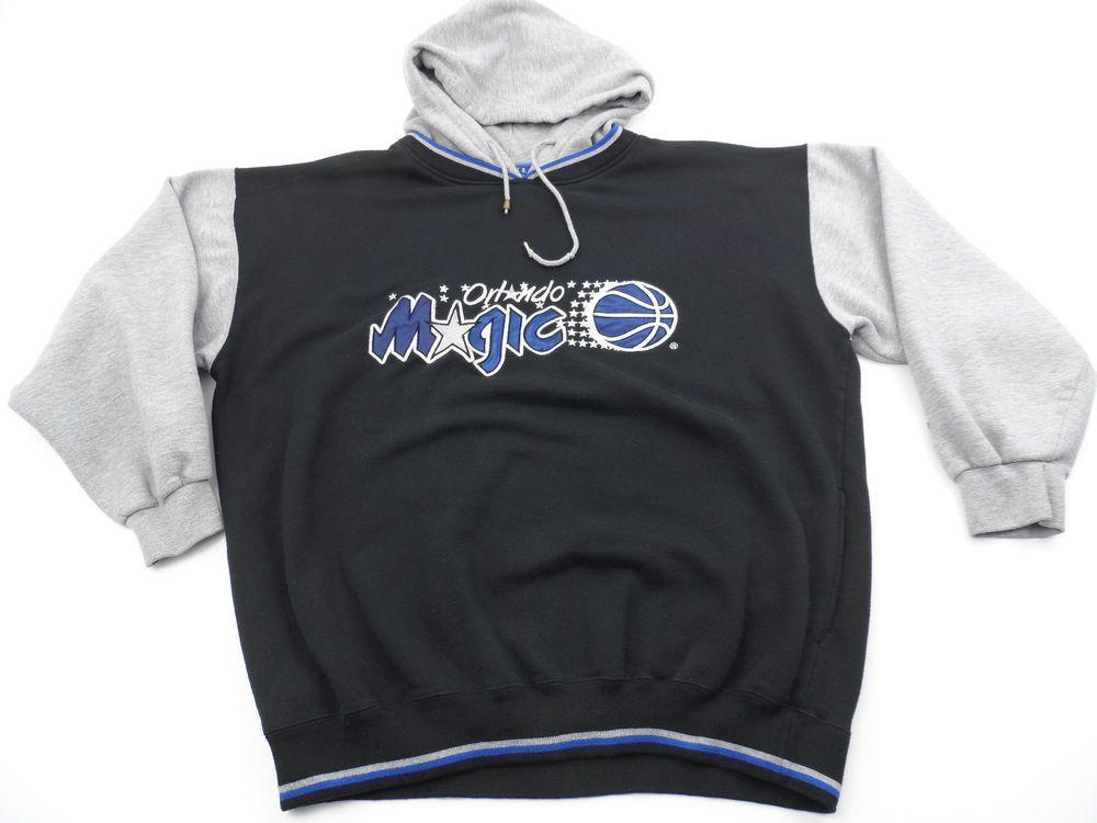 Vintage Starter Nba Orlando Magic Hoodie Mens Xl Black Gray Blue Thick Black And Grey Hoodies Mens Xl