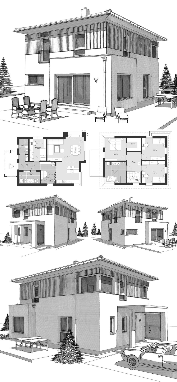Moderne Stadtvilla Im Landhausstil Neubau Grundriss Mit Walmdach