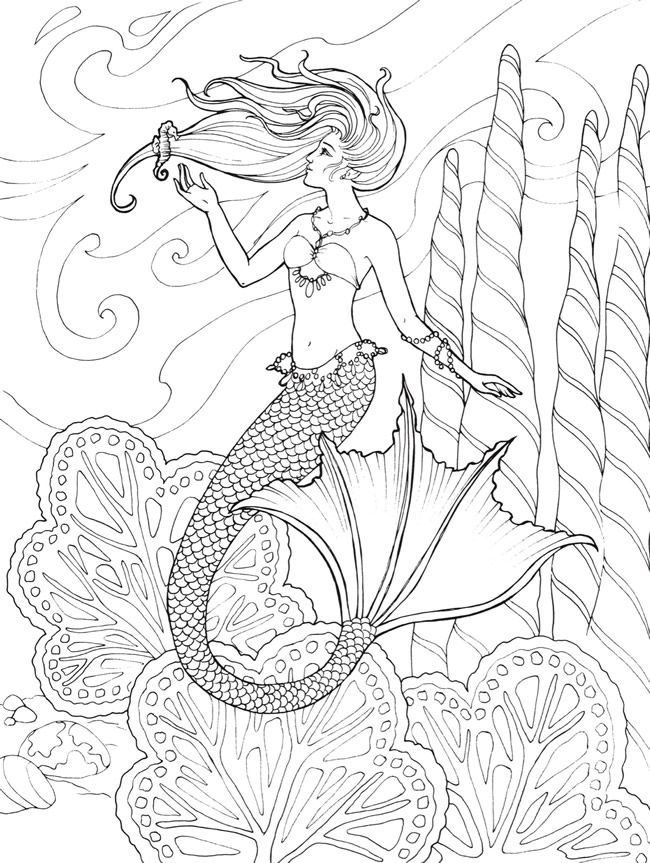 Welcome to Dover Publications - CH Mermaids … | Pinteres…