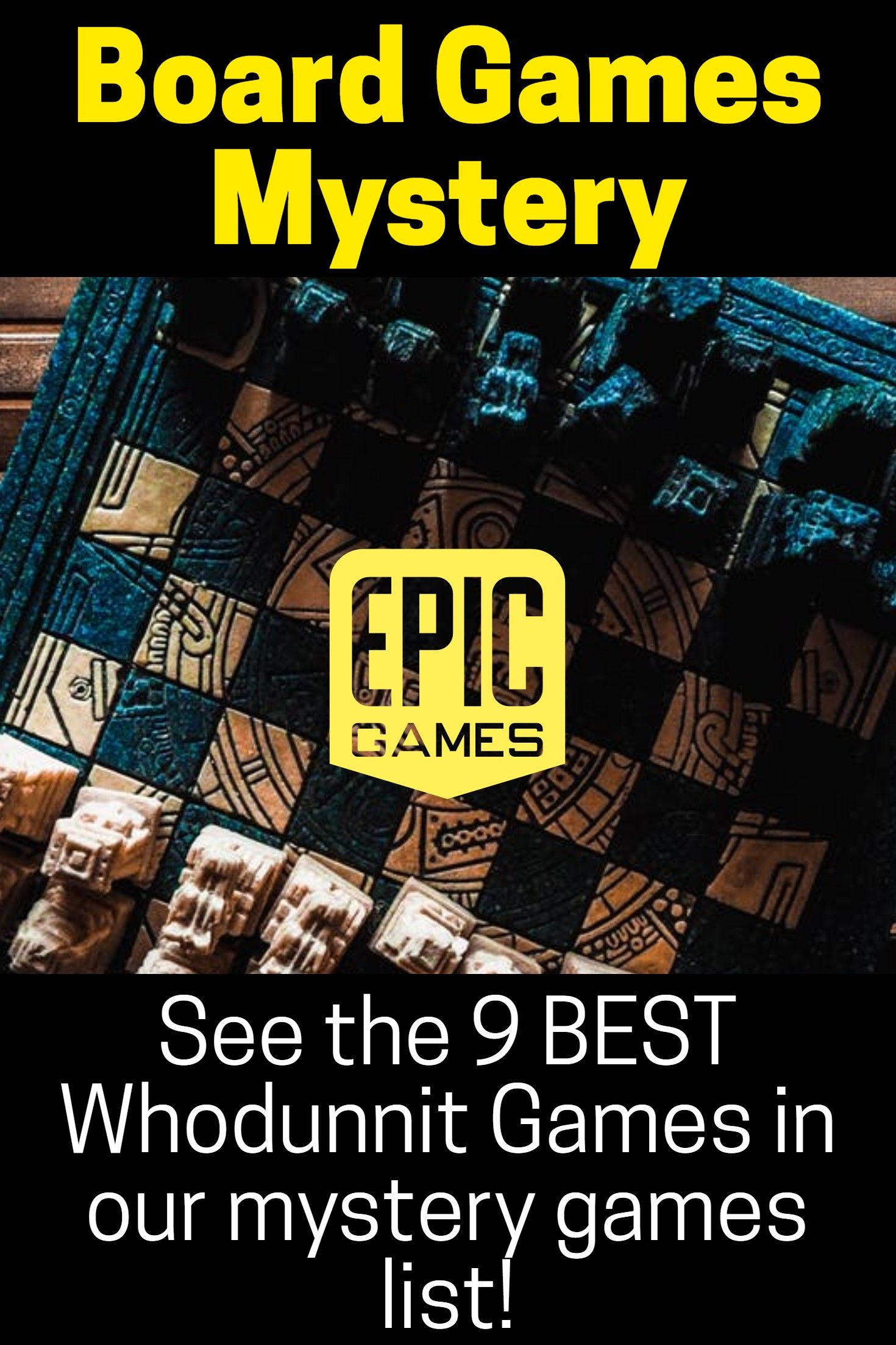 BOARD GAMES MYSTERY See the [9 BEST Whodunnit Games] in