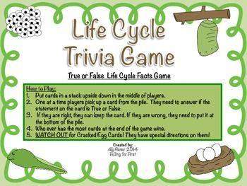 Life Cycle Trivia Game Life Cycles Cycle Trivia Games
