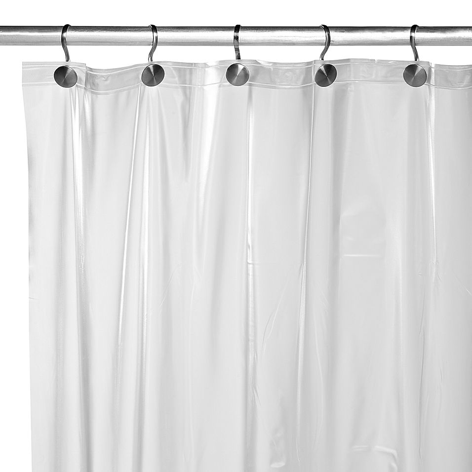 Heavy Weight Frost Shower Curtain Liner In 2020 Guest Bathroom