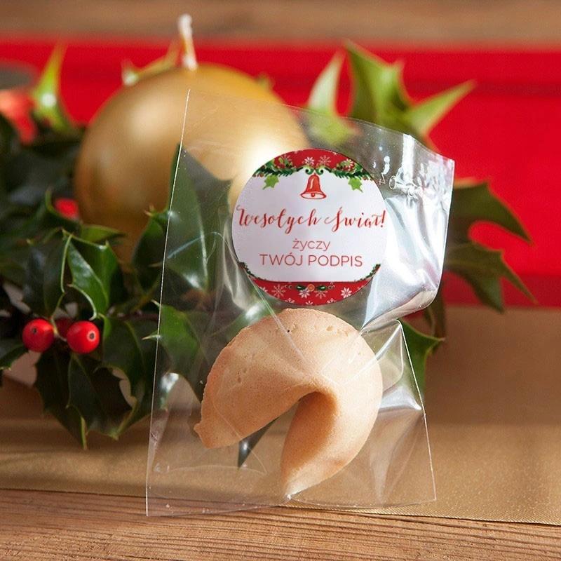 Ciasteczko Swiateczne Z Wrozba Czerwone Swieta Allegro Pl Ciasteczko Swiateczne Z Wrozba Na Swieta Bozego Narodzenia Wspaniala Caramel Apples Apple Caramel