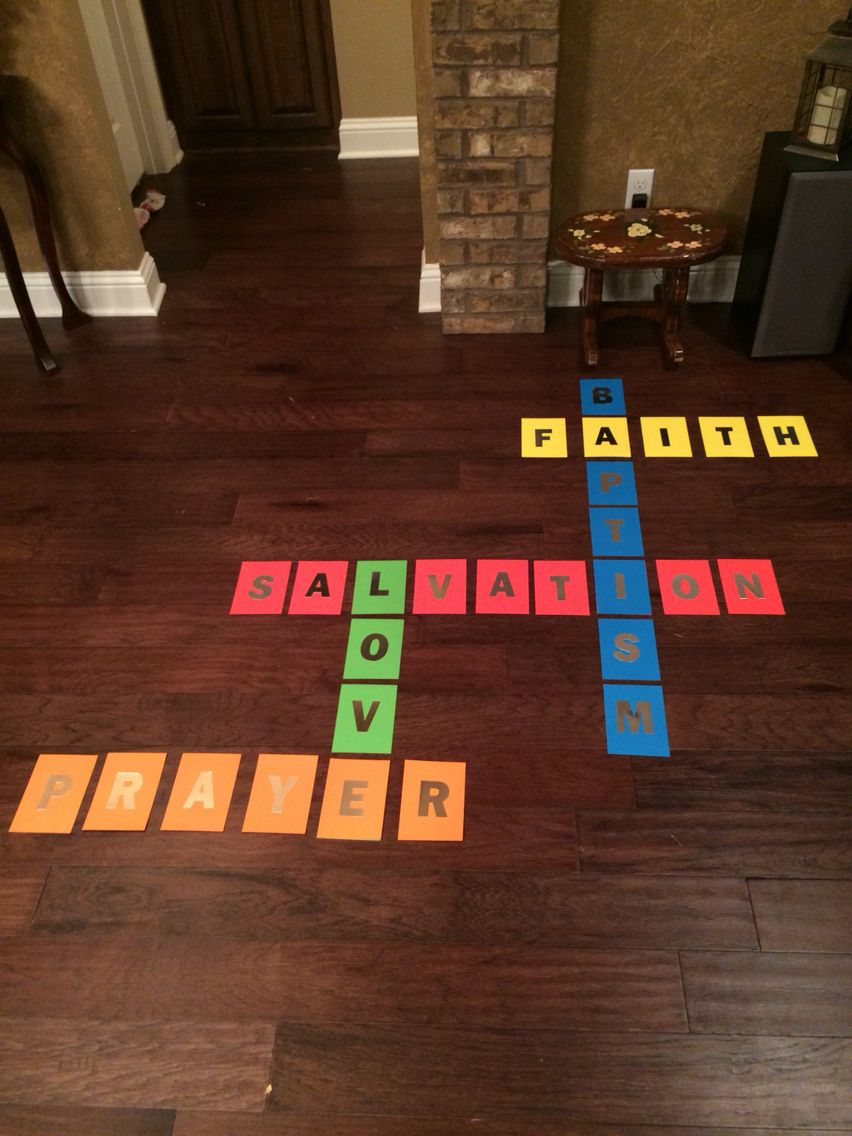 A cross word puzzle to hang on the wall of a youth room or anywhere at church! Again all the materials are from Hobby Lobby!