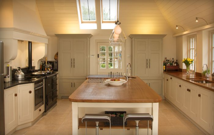 Iroko centre Island with end grain food prep area and sink | For ...