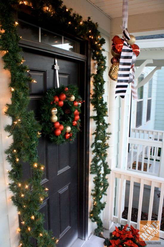Holiday Decorating Ideas For The Front Door Holiday Decor
