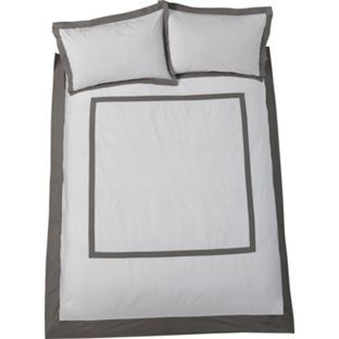 Buy Heart of House Spencer Grey Bedding Set - Kingsize at Argos.co.uk - Your Online Shop for Limited stock Home and garden, Bedding, Duvet cover sets.