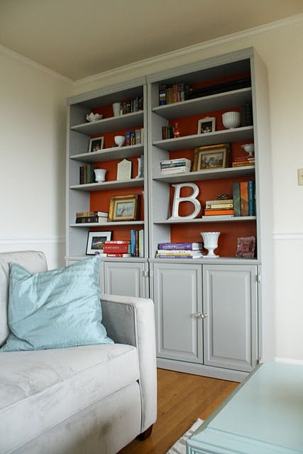 Cassie S Bookcase Redo Built Ins Home House Tours