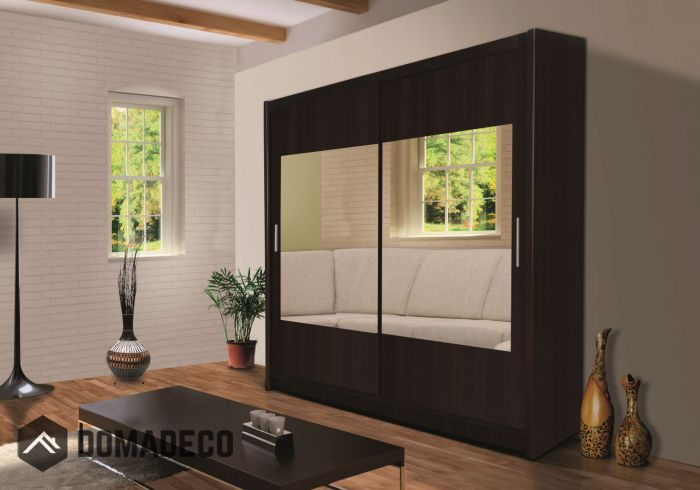 Montana 6 Pear Or Wenge Modern Wardrobe Small Single Door And Sliding Doors