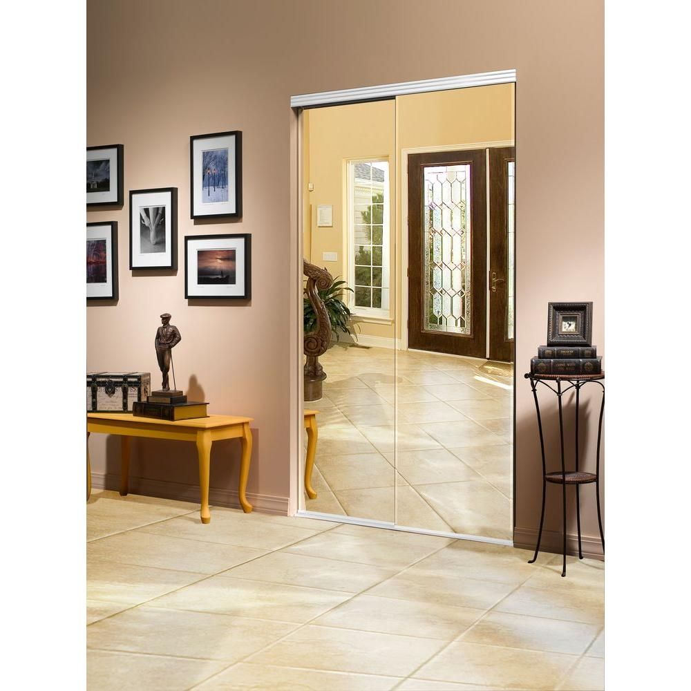 Impact Plus 48 in. x 80 in. Beveled Edge Backed Mirror