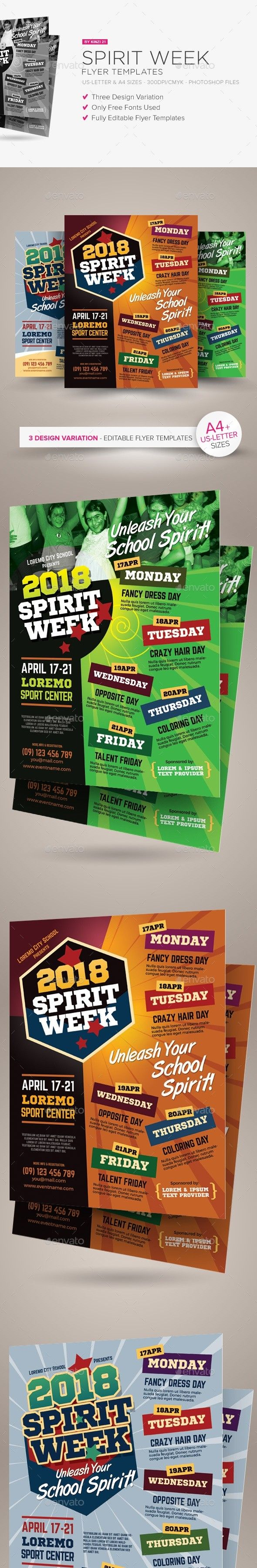 spirit week flyer templates pinterest flyer template event flyers and template