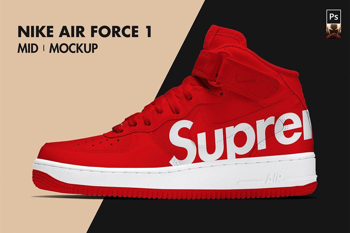 Download Nike Air Force 1 Mid Mockup Nike Air Force Nike Air Air Force 1