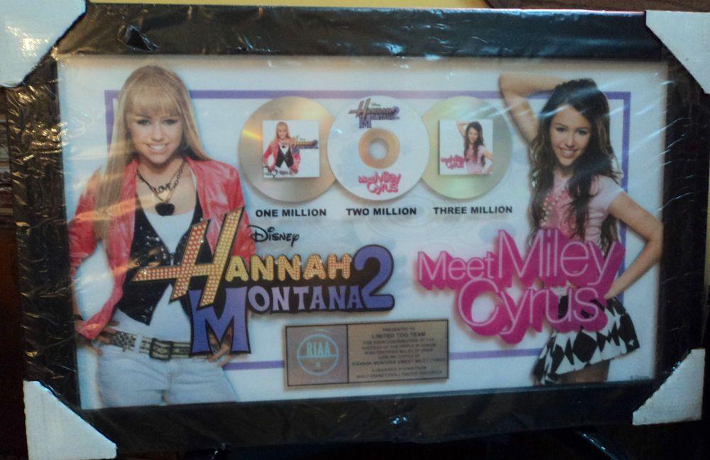 Miley Cyrus Hannah Montana Music Memorabilia Framed Poster Award Albums Disney
