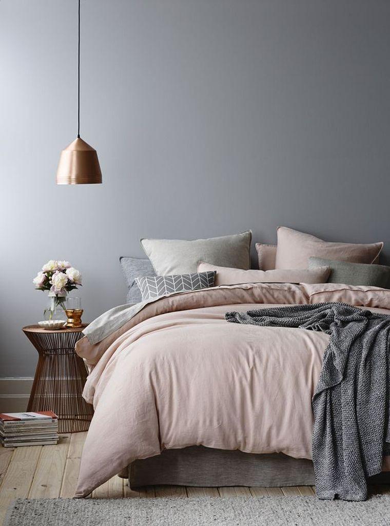 chambre rose et gris id es d co trendy pour adulte et enfant d co pinterest maison. Black Bedroom Furniture Sets. Home Design Ideas