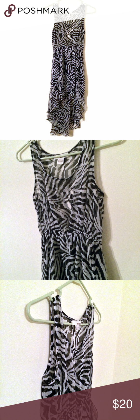 Sans souci high low zebra print dress zebra print high low and