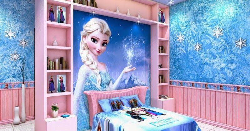 Frozen Bedroom Bedrooms For Girls With Frozen Movie Theme To Reinforce The Frozen Theme Given Variations In T Frozen Bedroom Girl Bedroom Decor Kids Bedroom