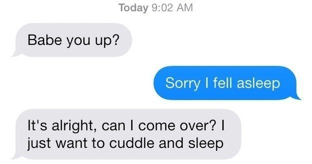 Cuddle text messages