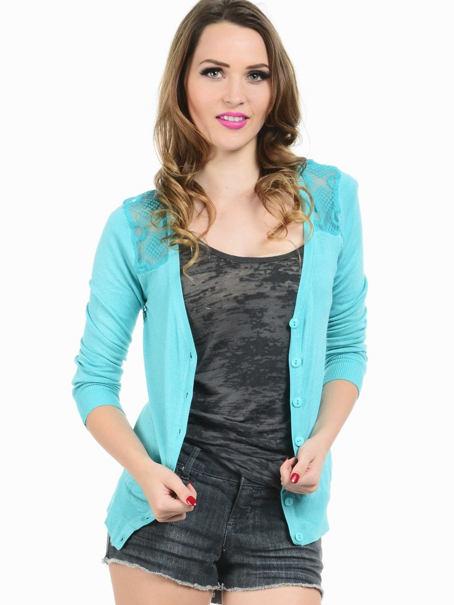Lace Back Button Up Cardigan | $10.00 | Cheap Trendy Cardigans ...