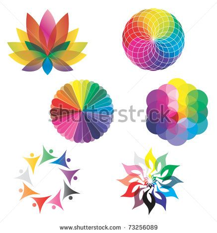 Set of color wheels circles lotus flower flower of life in set of color wheels circles lotus flower flower of life in rainbow colors mightylinksfo