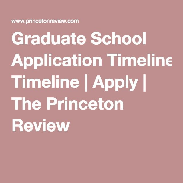 Graduate School Application Timeline  Apply  The Princeton