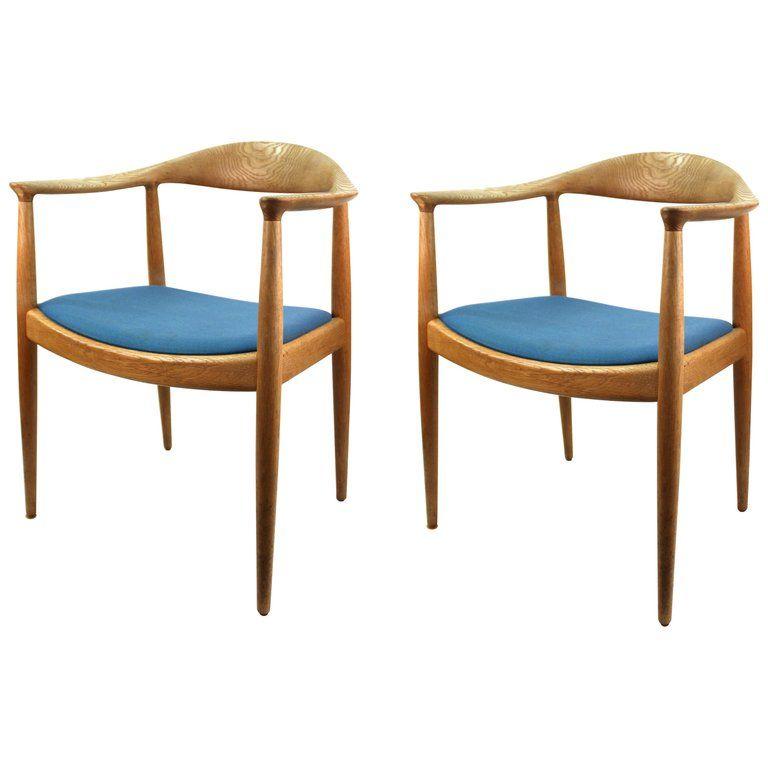 Hans Wegner For Johannes Hansen Danish Modern Jh 501 Chairs From
