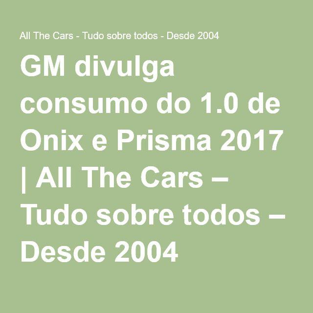 Consumo onix 1