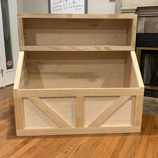Wood toy chest I Wood storage I toy storage I wood toy bin I storage solution I farmhouse toy bin I farmhouse storage I decor