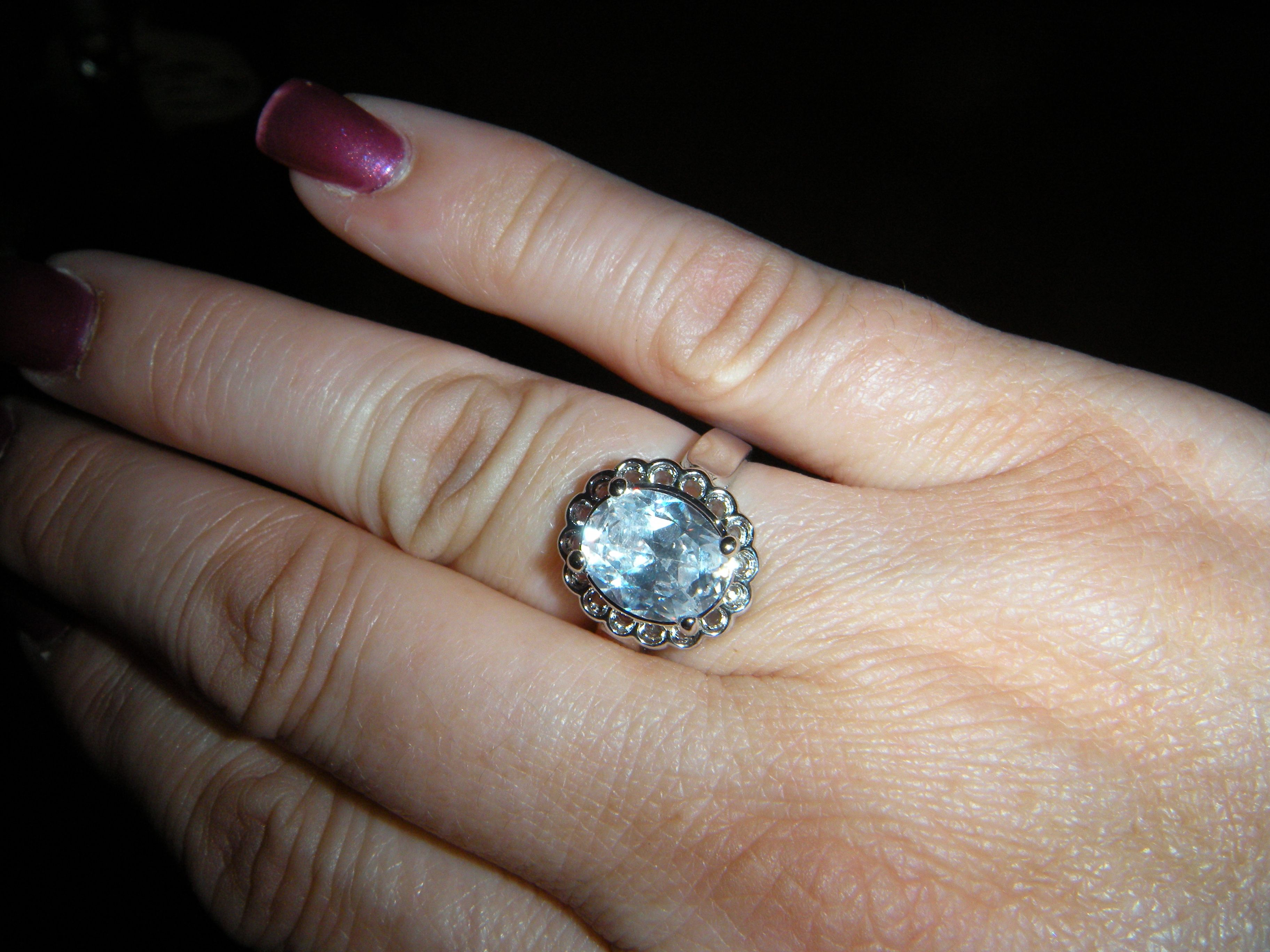 Diamond Candle Ring from a Cupcake Candle - White Topaz