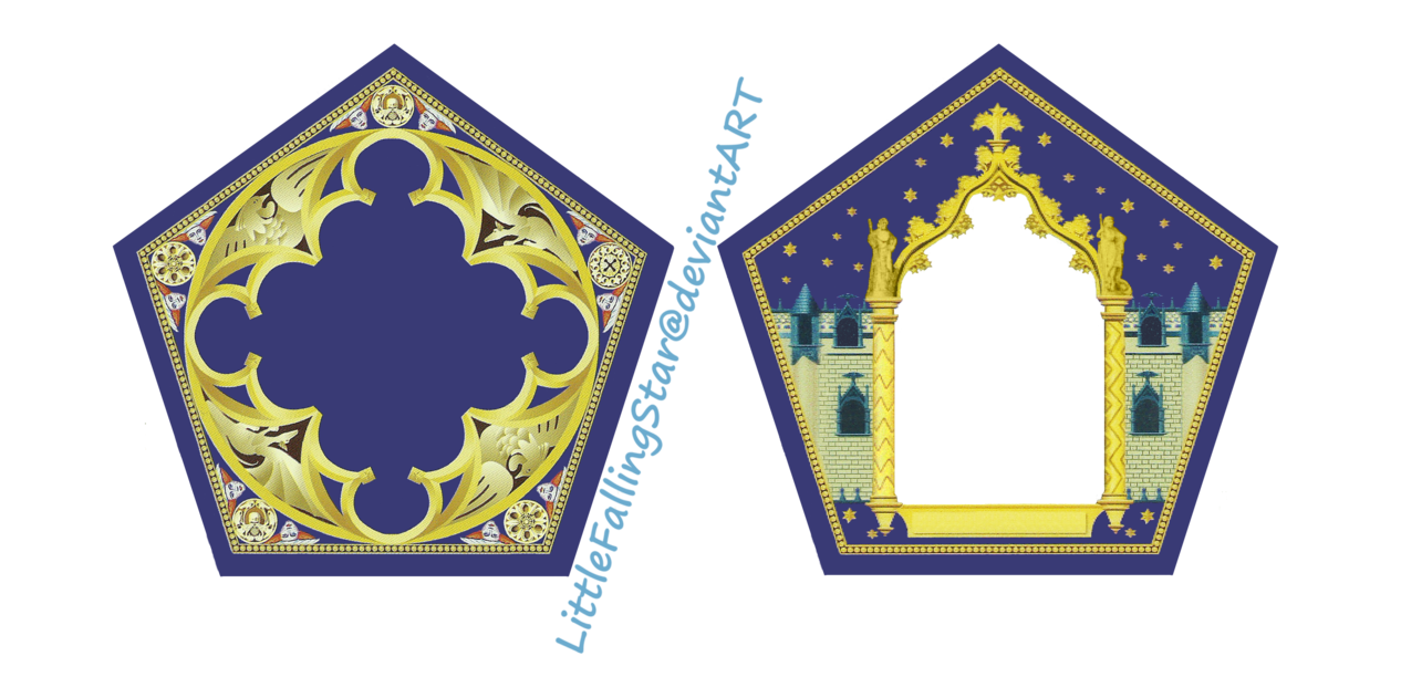 Critical image within printable chocolate frog cards