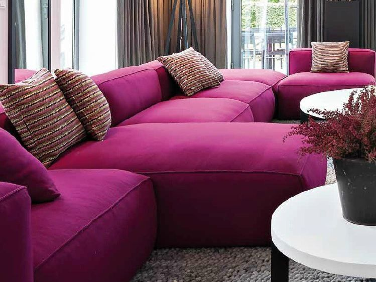 Pleasing Pink Sectional Sofa Brilliant Home Decor Arrangement Ideas ...