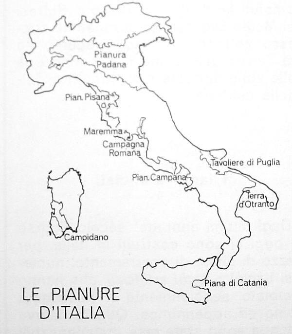 Cartina Italia Pianure.Le Pianure Italiane Attivita Geografia L Insegnamento Della Geografia Scuola Elementare