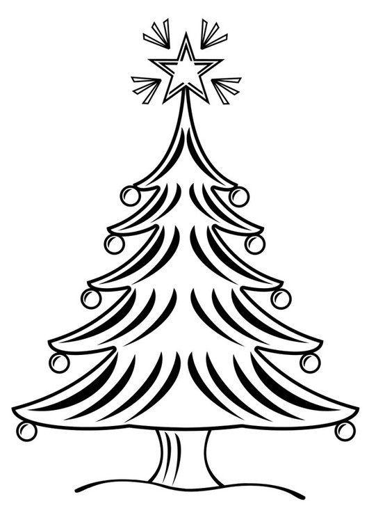 Dibujos de arboles de navidad para colorear | Diciembre | Pinterest